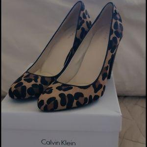 Brand New Calvin Klein Leopard Print Heels